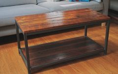 Pine Metal Tube Coffee Tables