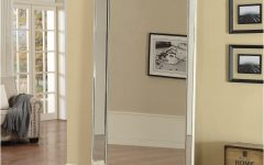 Chrome Floor Mirror