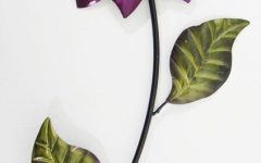 Purple Flower Metal Wall Art
