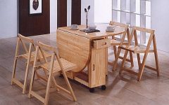 Wood Folding Dining Tables