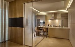 Frosted Glass Sliding Door for Contemporary Kitchen