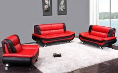Black and Red Sofas