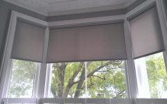 Roman Blinds on Bay Windows