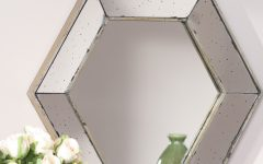 Gia Hexagon Accent Mirrors