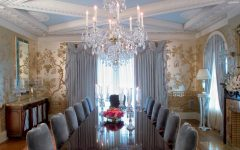 Gold Toned Asian Formal Dining Room Exotic Look Design