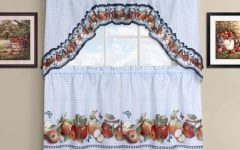 Delicious Apples Kitchen Curtain Tier and Valance Sets