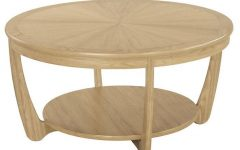Round Oak Coffee Tables