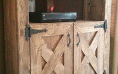 Rustic Corner TV Cabinets