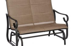 Padded Sling Double Glider Benches