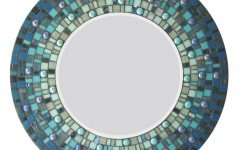 Round Mosaic Wall Mirror