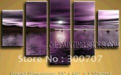Dark Purple Abstract Wall Art