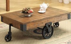 Natural Wheel Coffee Tables