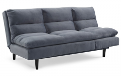 Brayson Chaise Sectional Sofas Dusty Blue