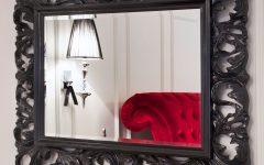 Black Rococo Mirror