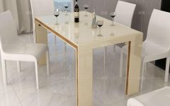 High Gloss Cream Dining Tables