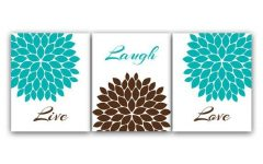 Brown and Turquoise Wall Art