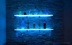Floating Glass Shelves for Bar