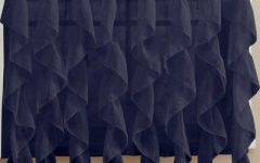 Vertical Ruffled Waterfall Valance and Curtain Tiers