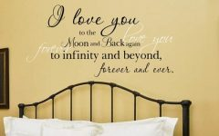 I Love You to the Moon and Back Wall Art