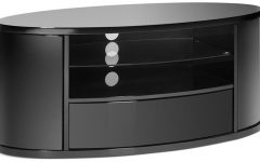 Black Oval TV Stands