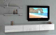 White Wall Mounted TV Stands