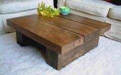Square Dark Wood Coffee Tables