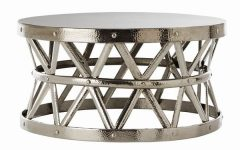 Silver Drum Coffee Tables