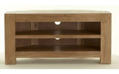 Oak Effect Corner TV Stands