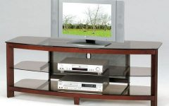Wood TV Stands With Glass Top