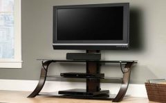 Glass Corner TV Stands for Flat Screen TVs