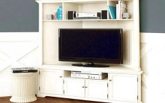 Corner Oak TV Stands for Flat Screen
