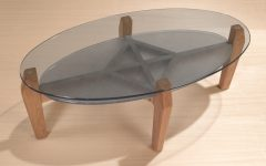 Oval Shaped Glass Coffee Tables