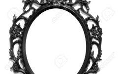 Black Victorian Style Mirror