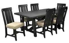 Jaxon 7 Piece Rectangle Dining Sets With Upholstered Chairs