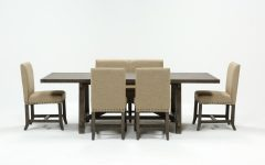 Jaxon Grey 6 Piece Rectangle Extension Dining Sets With Bench & Uph Chairs