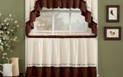 Abby Embroidered 5-Piece Curtain Tier and Swag Sets