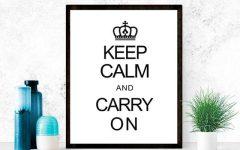 Keep Calm Canvas Wall Art