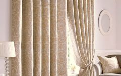 Beige Lined Curtains