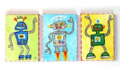 Robot Canvas Wall Art