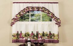 Chardonnay Tier and Swag Kitchen Curtain Sets