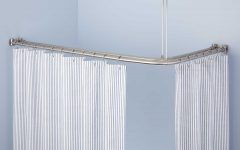 L Shaped Shower Curtain Rods