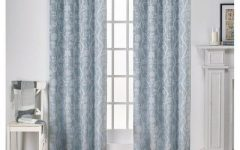 Essentials Almaden Fretwork Printed Grommet Top Curtain Panel Pairs