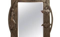 Large Pewter Mirror