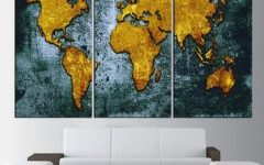 Canvas Map Wall Art
