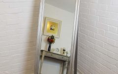 Silver Free Standing Mirror