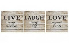 Live Laugh Love Canvas Wall Art