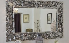 Silver Ornate Wall Mirror