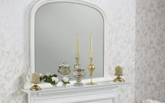 White Overmantle Mirror