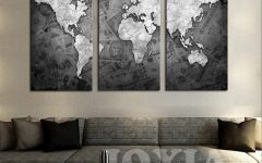 Worldmap Wall Art