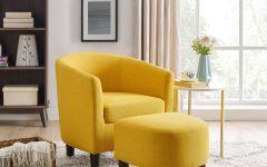 Chaithra Barrel Chair and Ottoman Sets